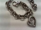 Silver-Diamond Bracelet .03 CT. 925 Silver 18.3g
